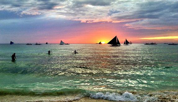 закат на филипинах